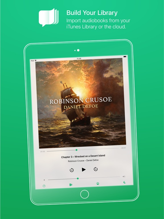 GreenLit Audiobook Player Screenshots