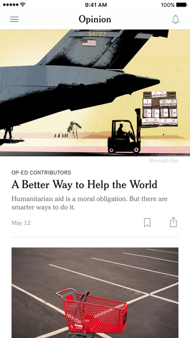 Screenshot 3 for The New York Times's iPhone app'