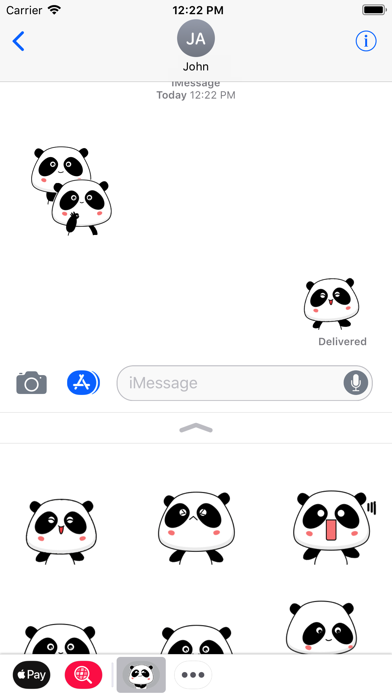 Panda Bear Animated Stickers screenshot three