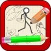 Stick-Man Runner - Doodle Monster Sketch Survival