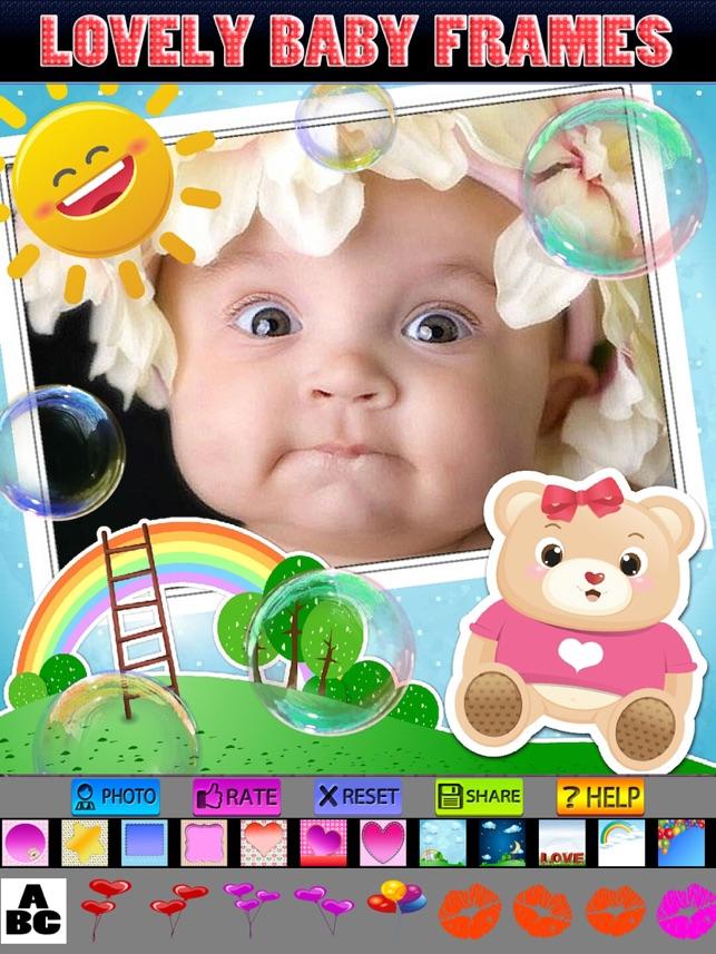 Baby-Fotorahmen und Aufkleber im App Store