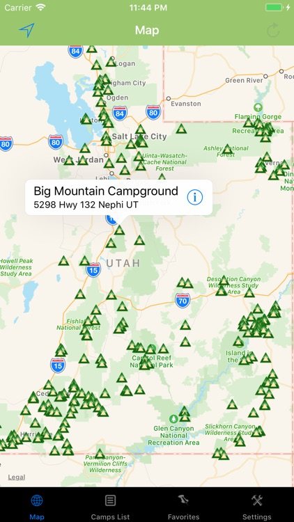 Utah – Camping & RV spots screenshot-0