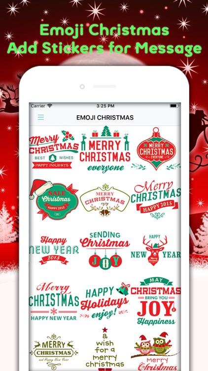 Christmas Emojis & Animated screenshot-3