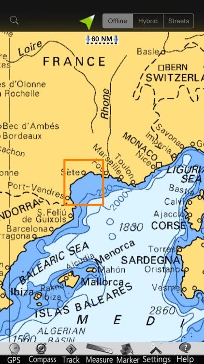 Gulf of Lion Nautical Charts screenshot-4