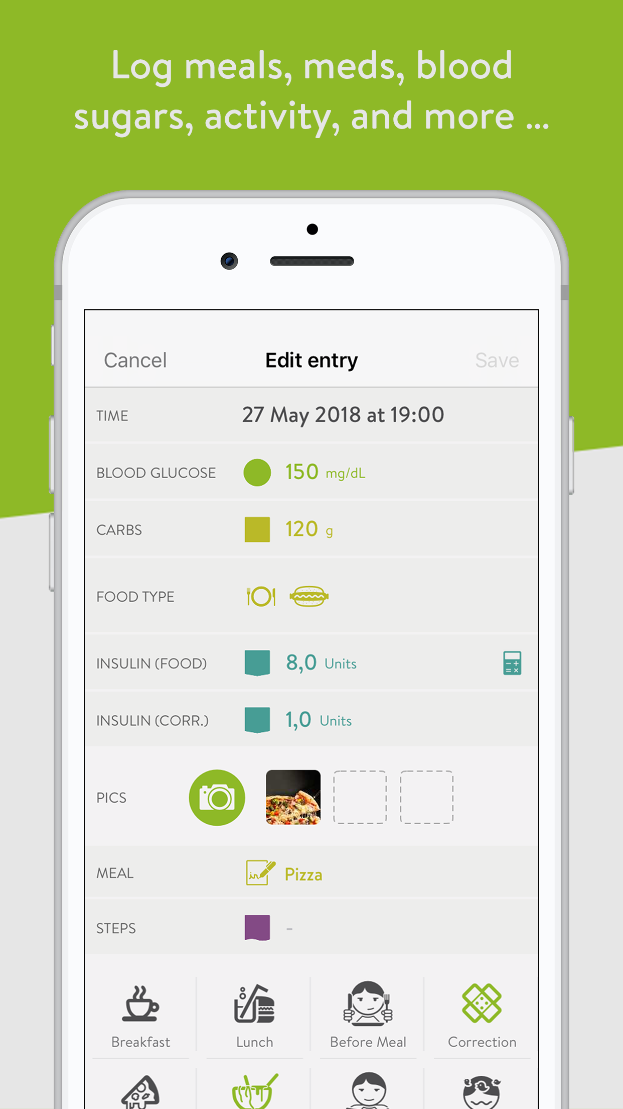 mySugr: Diabetes Tracker Log Screenshot