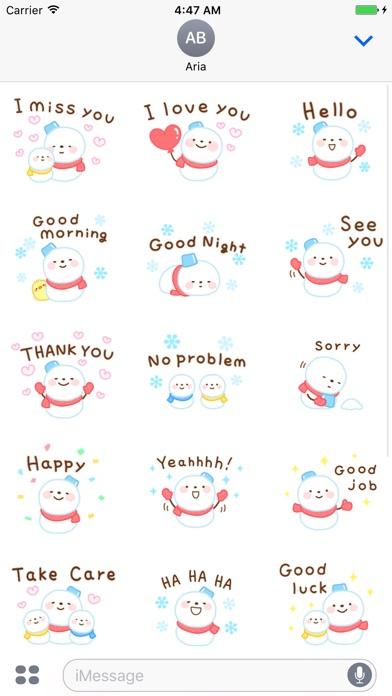 Cute Snowman Emoji Sticker screenshot 3