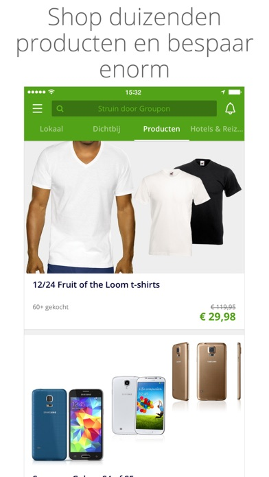 Screenshot for Groupon in Netherlands App Store