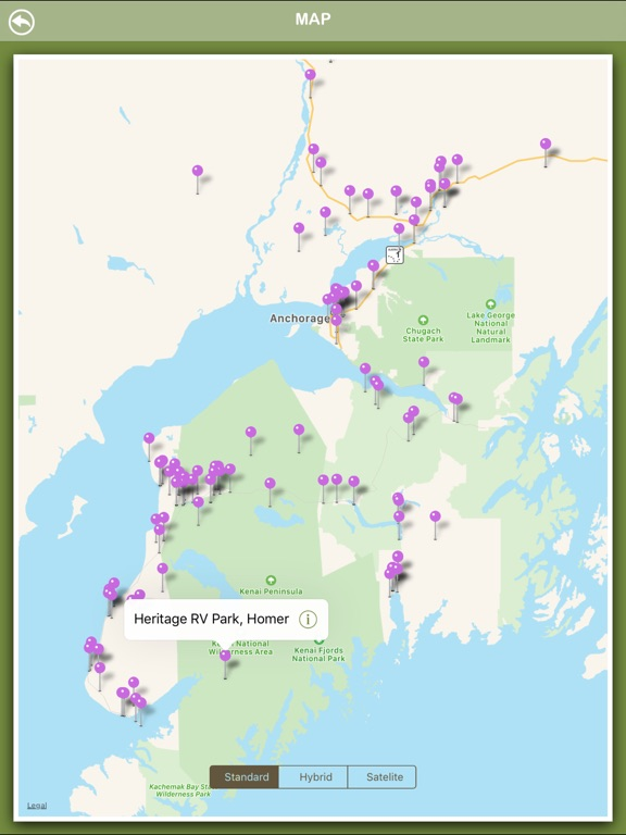 Alaska Campgrounds Offline-ipad-3