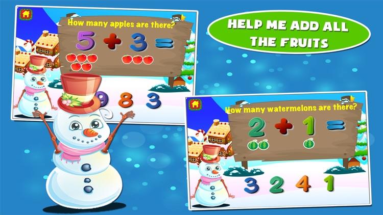 Snowman Preschool Math Games