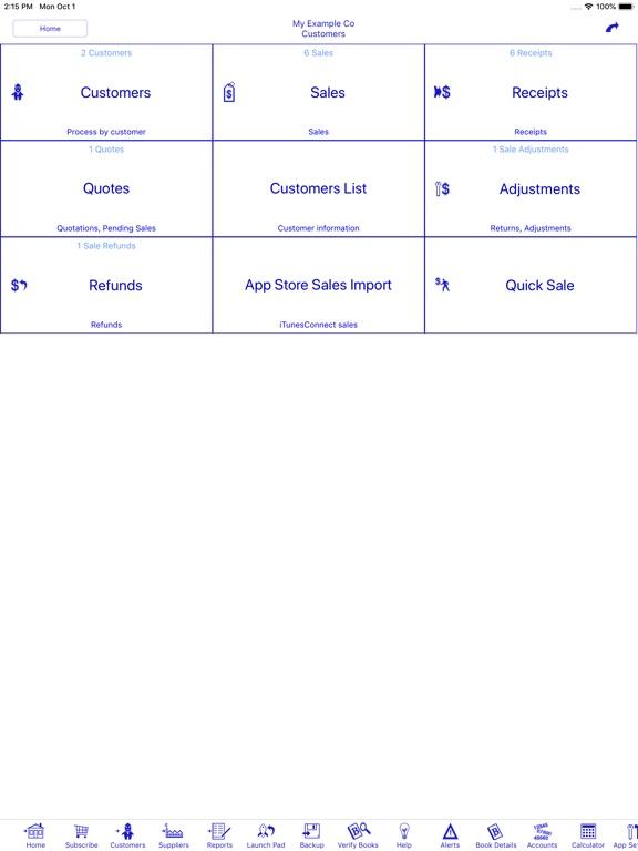 Bookkeeping Screenshots