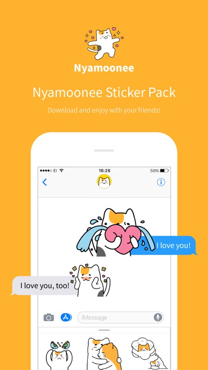 Nyamoonee's love life sticker