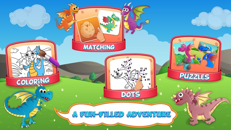 Dragons Activity Games Lite screenshot-1