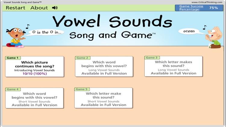Vowel Sounds Song & Game Lite screenshot-4
