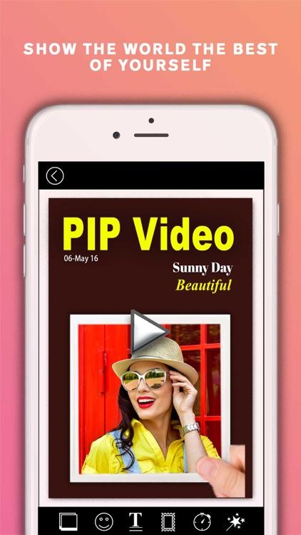 PIP Video Camera - selfie cam screenshot-4