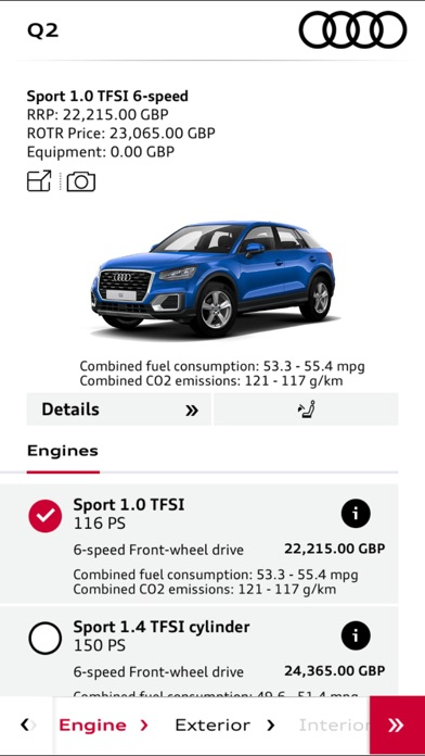 Audi Configurator UK screenshot three