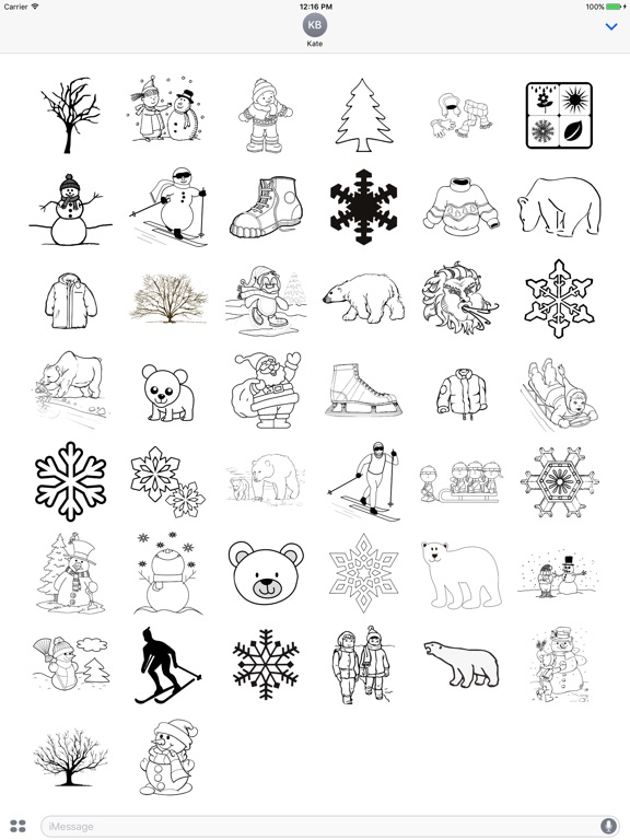Winter Drawings Pack screenshot 4