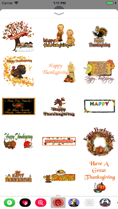 Thanksgiving Day GIF Stickers screenshot one