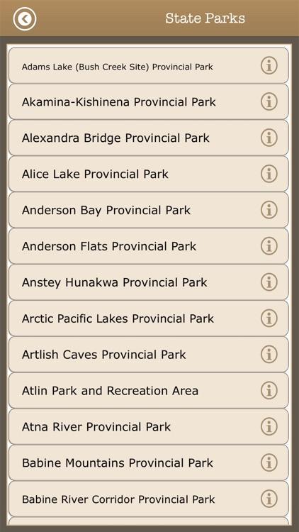 Canada - Camping & Trails,Park screenshot-4