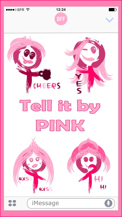 Paint It Pink - Stickers pack