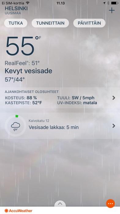 Screenshot for AccuWeather Sääennuste in Finland App Store