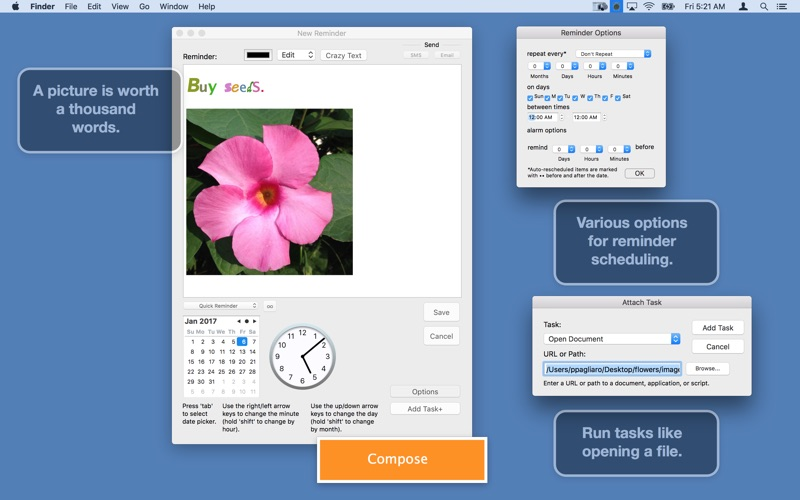 MenuMinder - Menubar Reminders Screenshots