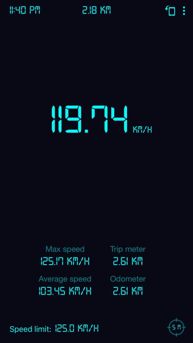 Screenshot of Tachimetro GPS: contachilometr1