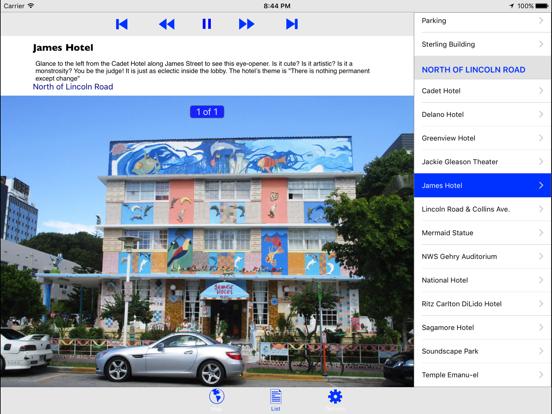 Miami Beach Art Deco GPS Tour Screenshots