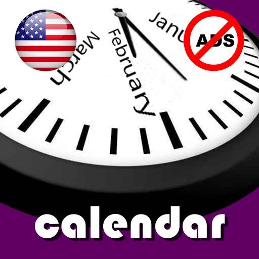 2019 US Holiday Calendar NoAds