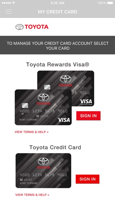 Toyota Card By Comenity Llc Ios United States Searchman App