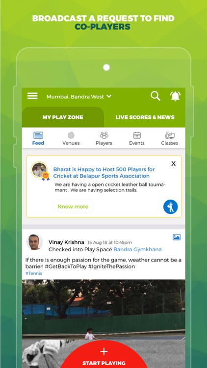 SportsJig - Sports near you!