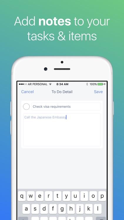 Packing List Travel Checklist screenshot-4