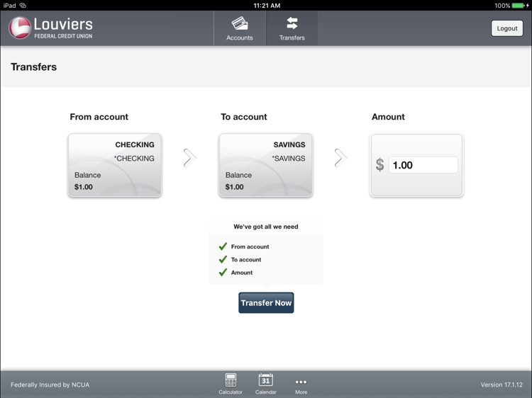 Louviers FCU for iPad screenshot-3