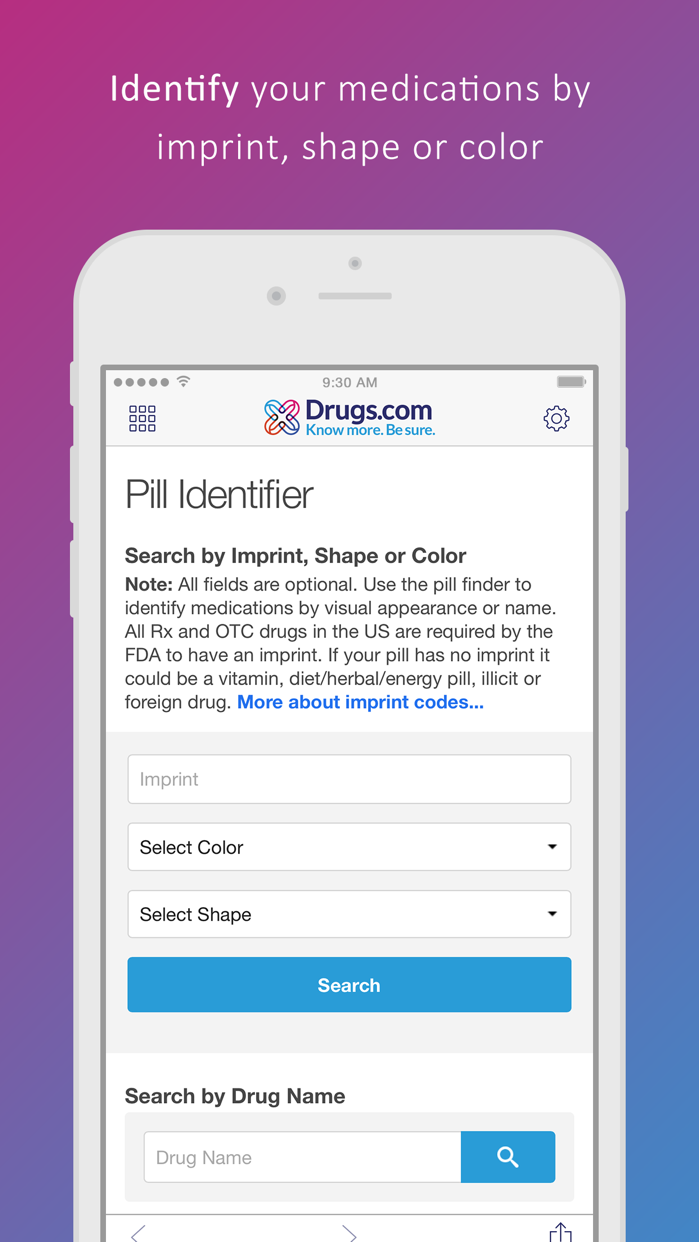 Drugs.com Medication Guide Screenshot