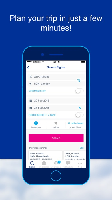 airtickets - A world to share screenshot two