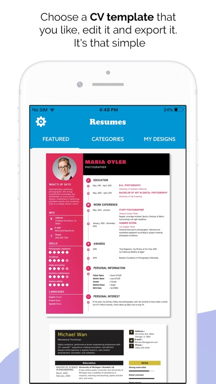 Quick Resume Builder, CV Maker screenshot-0