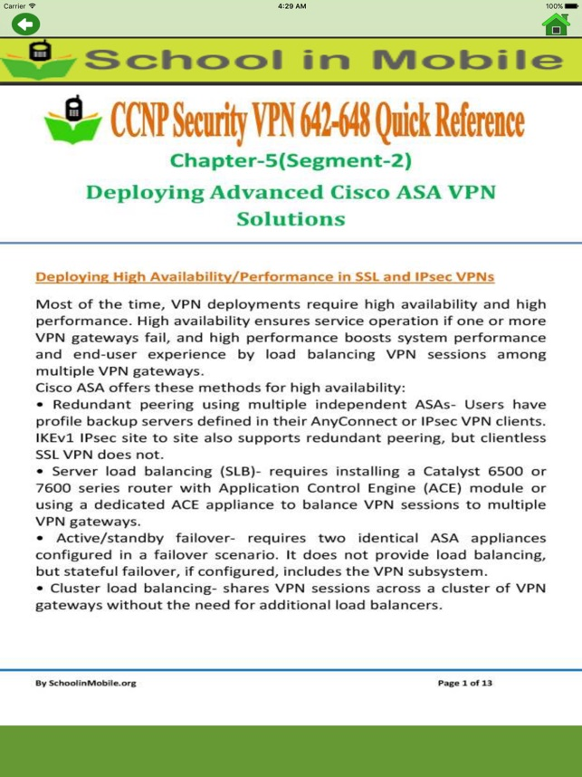 cbt nuggets ccnp security vpn