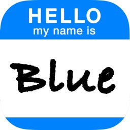 Blue - Your Virtual Name Tag