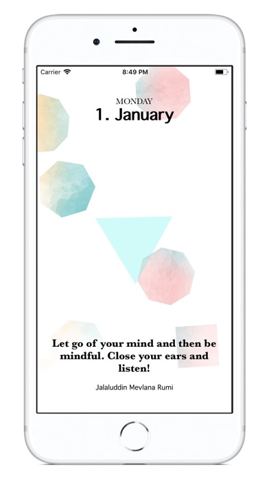 Mindfulness Calendar 2018 screenshot 2