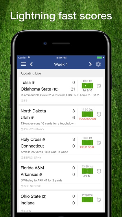 FBS College Football Schedule