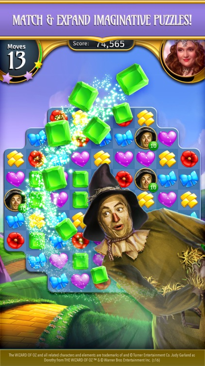 Wizard of Oz Magic Match 3 screenshot-4
