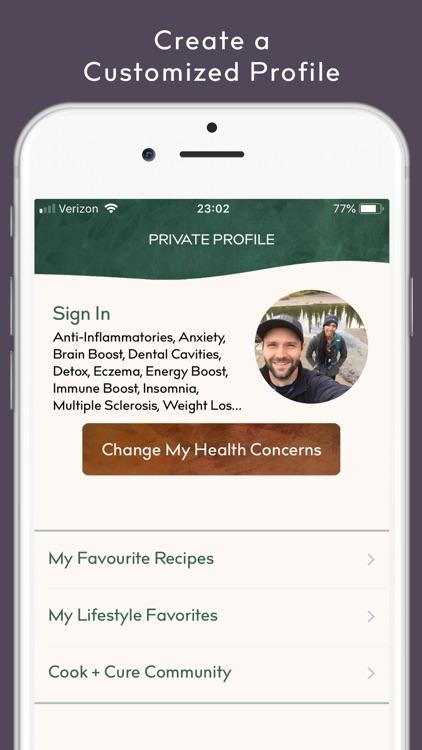 COOK + CURE | Food is Medicine screenshot-5