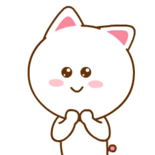 Cute Kitty Pinky Stickers