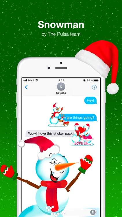 Snowman - Winter cute stickers