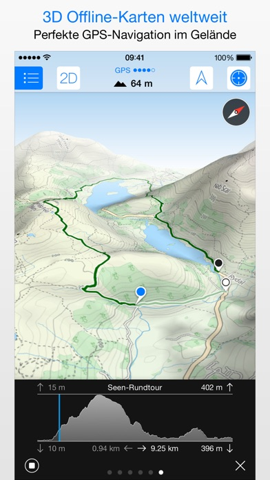 Screenshot for Maps 3D PRO - Outdoor GPS in Germany App Store