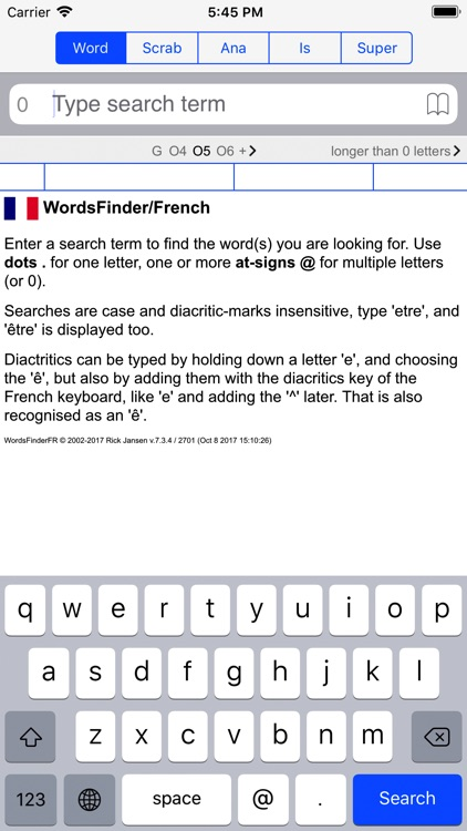 F Words Finder French PRO screenshot-0