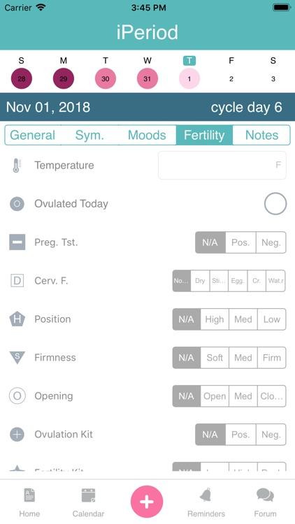 iPeriod Period Tracker + screenshot-5