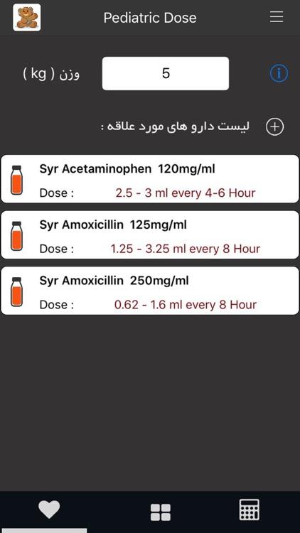 Pedi Dose (دوز داروهای اطفال)