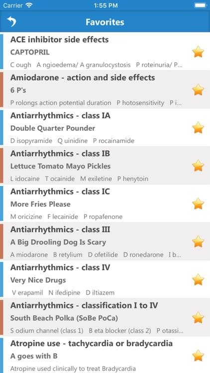 Pharmacology Mnemonics screenshot-4