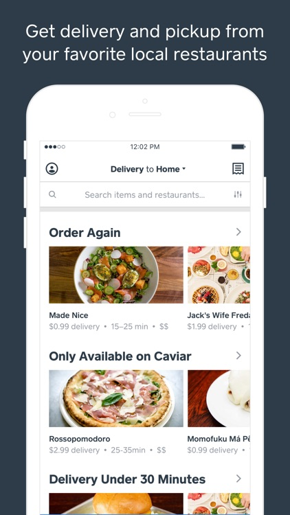 Caviar - Food Delivery