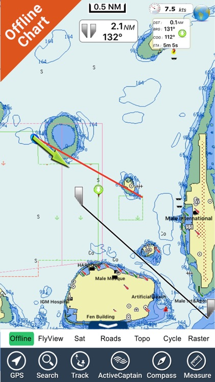 Maldives GPS Map Navigator screenshot-3